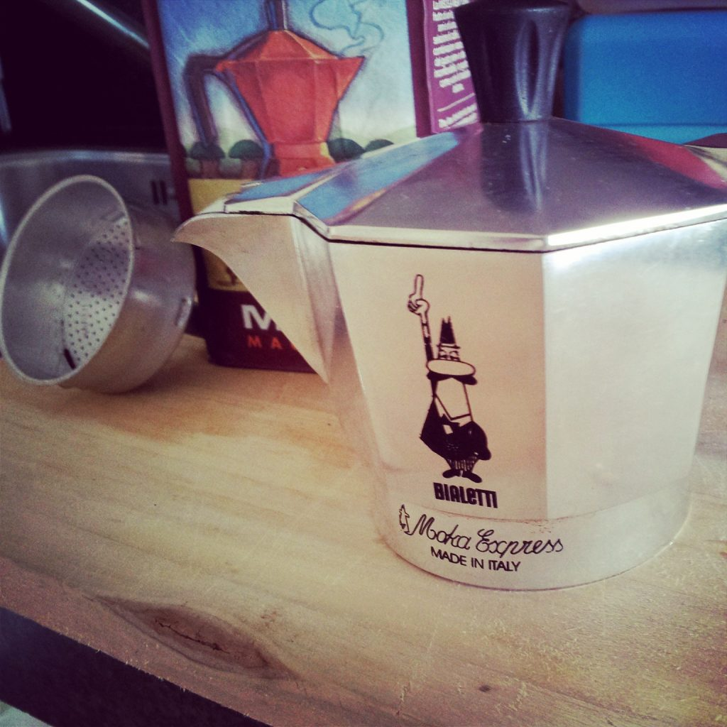 Moka koffie en moka express