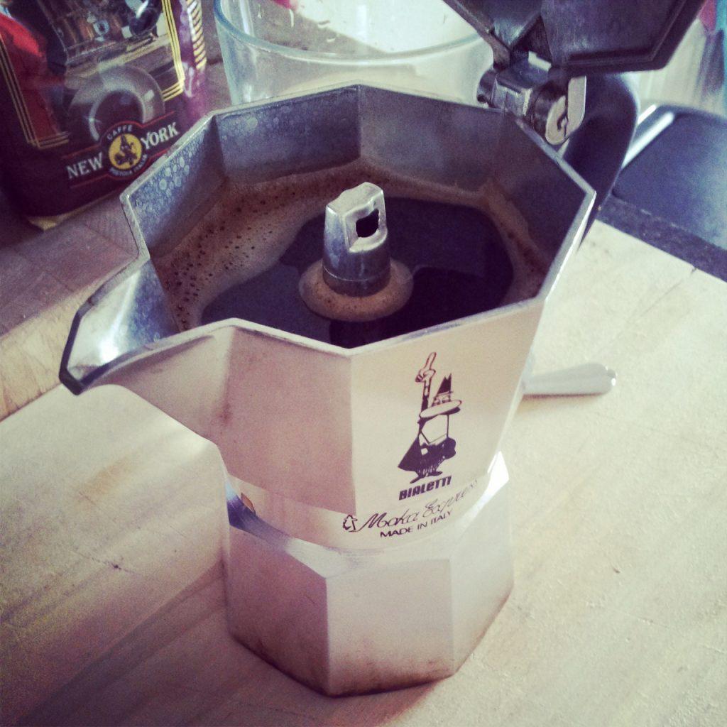 Moka express met heerlijke koffie