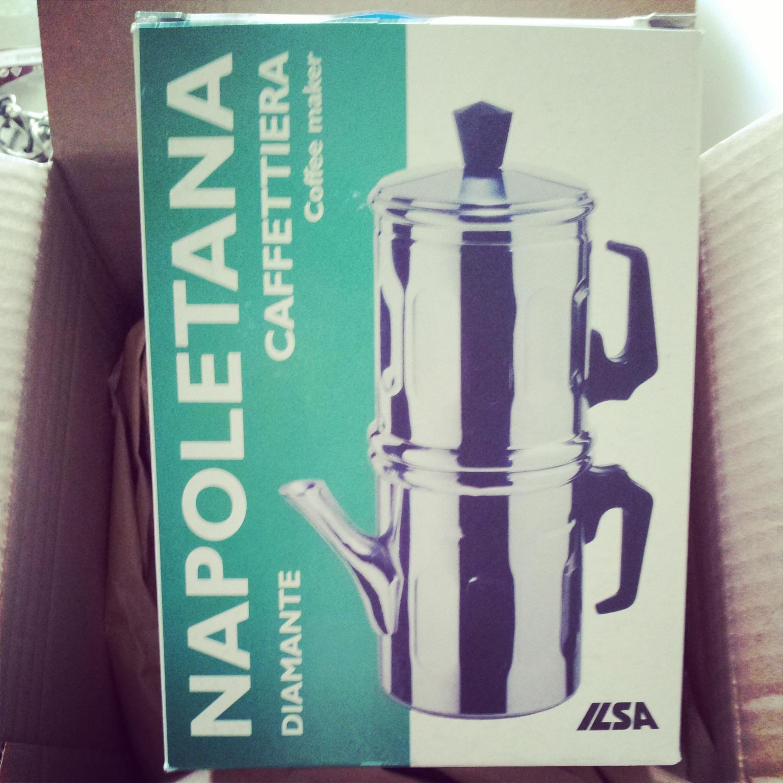 Gebruik van de Neapolitan flip coffee pot