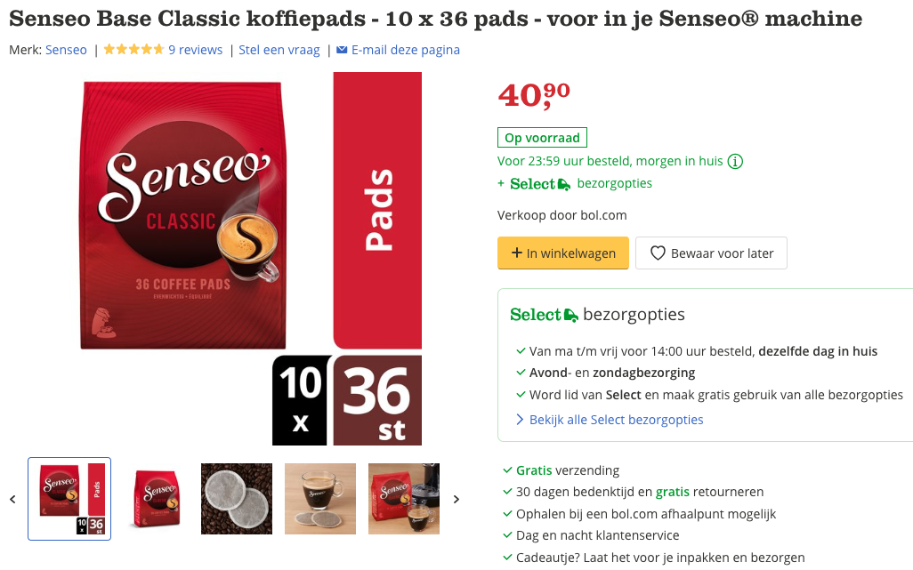 Senseo Base Classic koffiepads