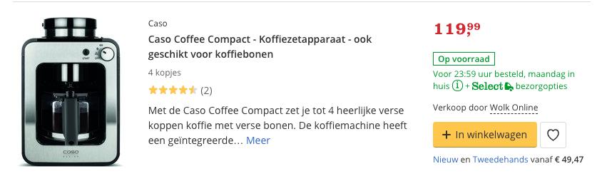 Beste kleine koffiezetapparaat Caso Coffee Compact - Koffiezetapparaat