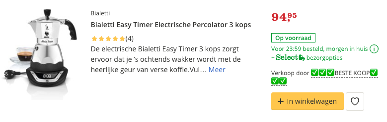 Beste Bialetti Easy Timer Electrische Percolator 3 kops review