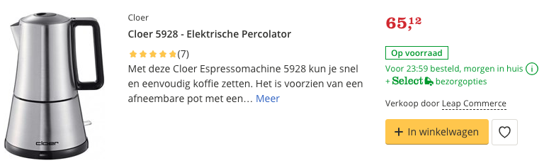 Beste Cloer 5928 - Elektrische Percolator top 1 review