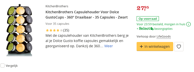 Beste KitchenBrothers Capsulehouder Voor Dolce GustoCups Top 1 review