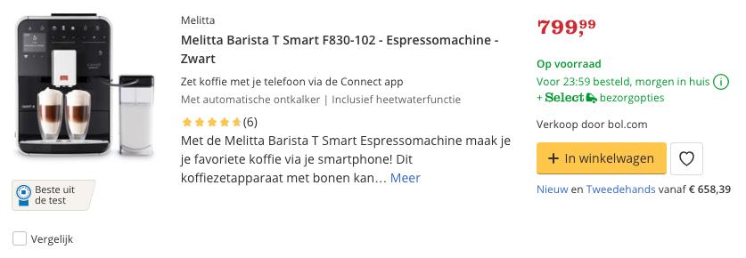 Beste Melitta Barista T Smart F830-102 - Espressomachine top 1 Review