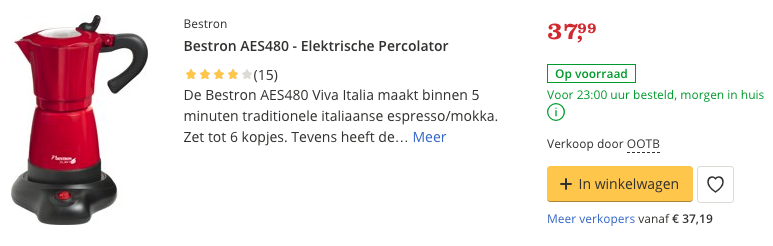 Beste top 3 Bestron AES480 - Elektrische Percolator review