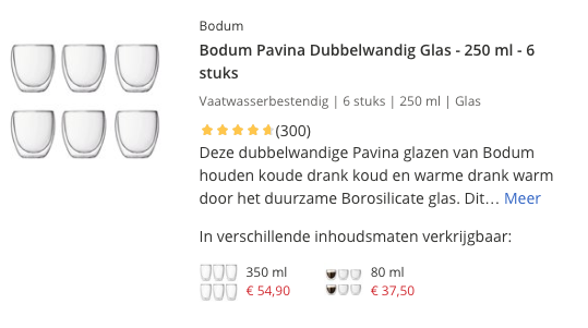 Top 1 Bodum Pavina Dubbelwandig Glas - 250 ml - 6 stuks review