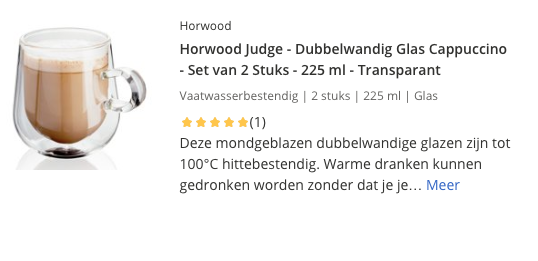 Top 5 Horwood Judge - Dubbelwandig Glas Cappuccino - Set van 2 Stuks - 225 ml - Transparant review