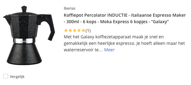 Top 2 Koffiepot Percolator ''Galaxy'' INDUCTIE - Italiaanse Espresso Maker - 300ml - 6 kops review