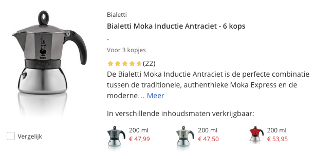 Top 3 Bialetti Moka Inductie Antraciet - 6 kops review