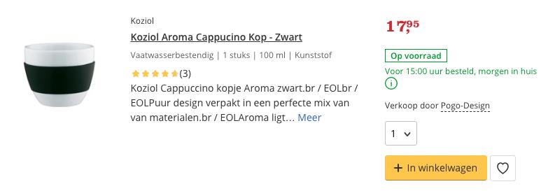 Top 3 Koziol Aroma Cappucino Kop - Zwart review