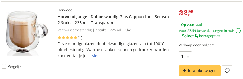 Top 4 Horwood Judge - Dubbelwandig Glas Cappuccino - Set van 2 Stuks - 225 ml review