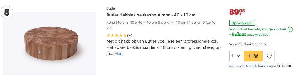 Top 5 Butler Hakblok beukenhout rond - 40 x 10 cm review