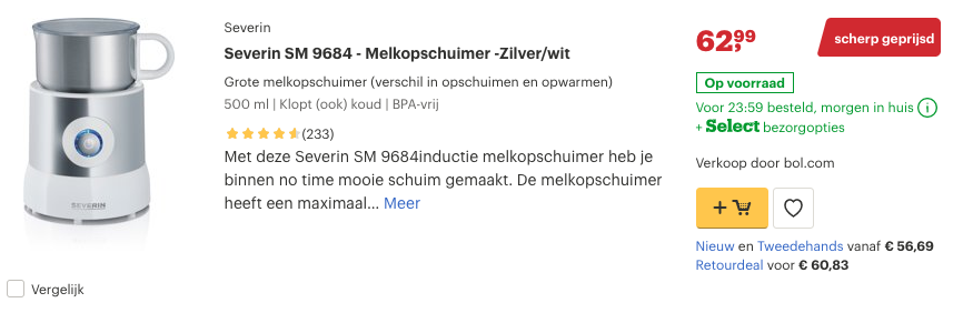 Top 2 Severin SM 9684 - Melkopschuimer -Zilver:wit review