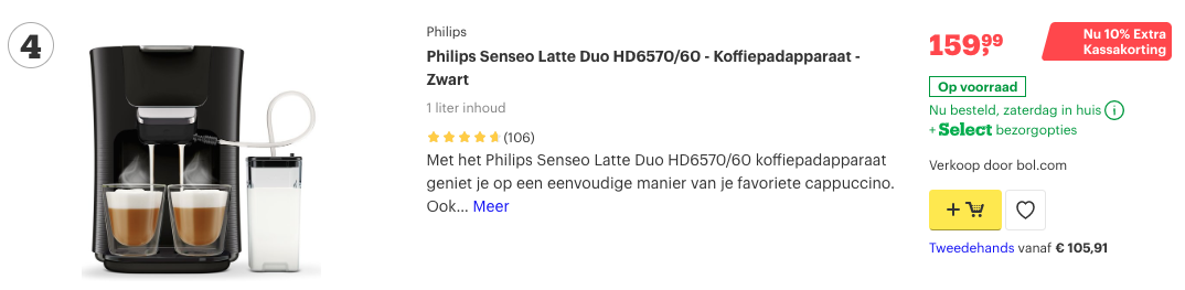 Top 4 Philips Senseo Latte Duo HD6570:60 - Koffiepadapparaat - Zwart review