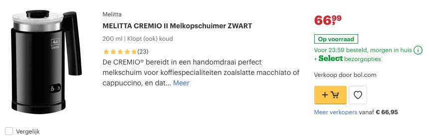 Top 5 MELITTA CREMIO II Melkopschuimer ZWART review