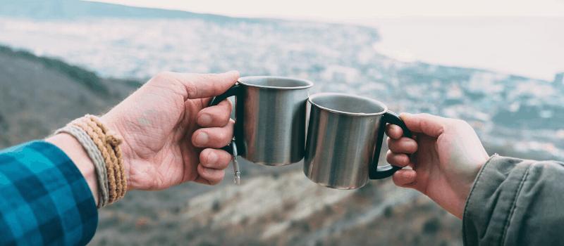 Koffiezetapparaten voor het wandelen